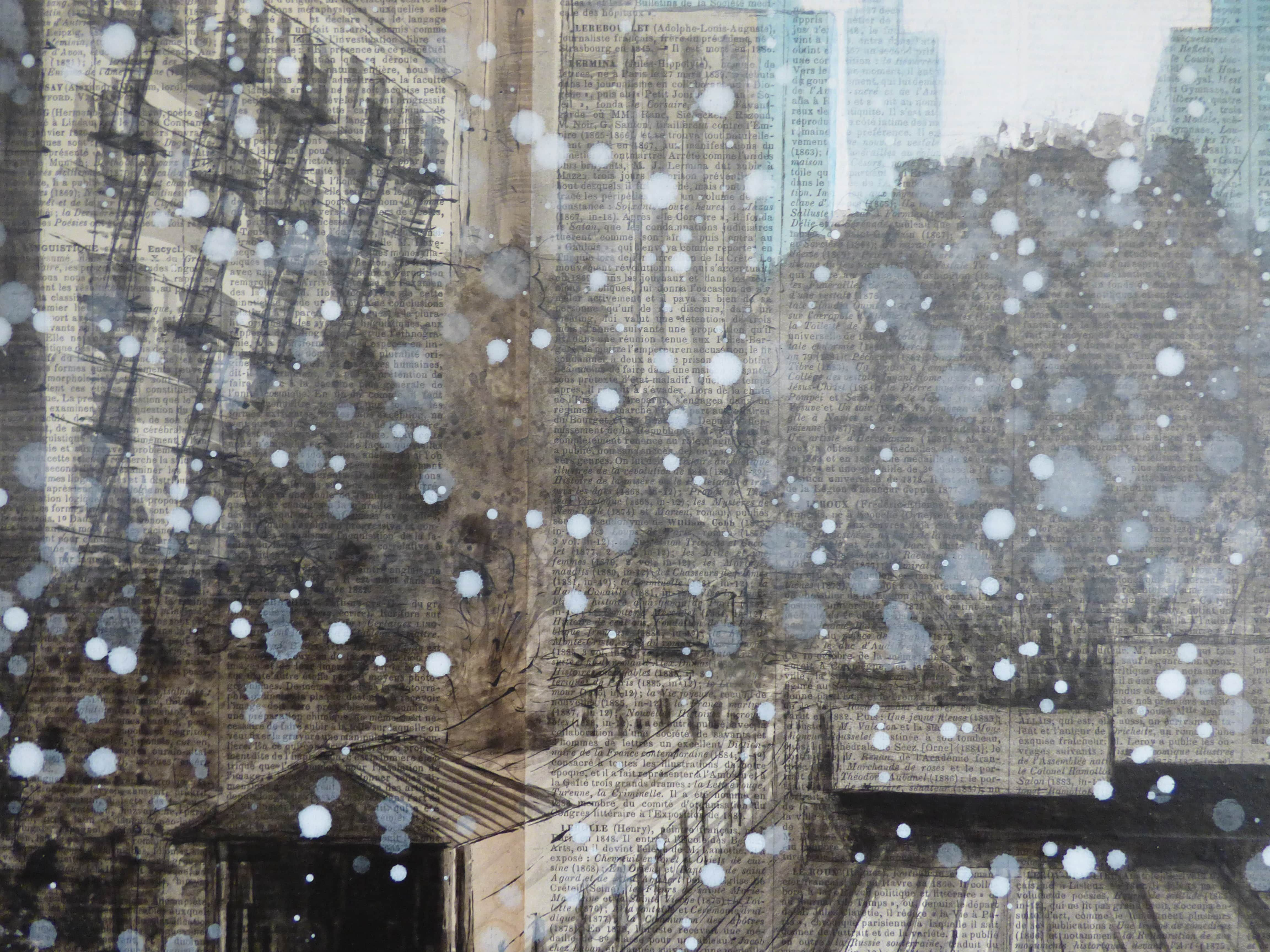 122nd and Broadway,Guillaume Chansarel,Peinture, detail 2