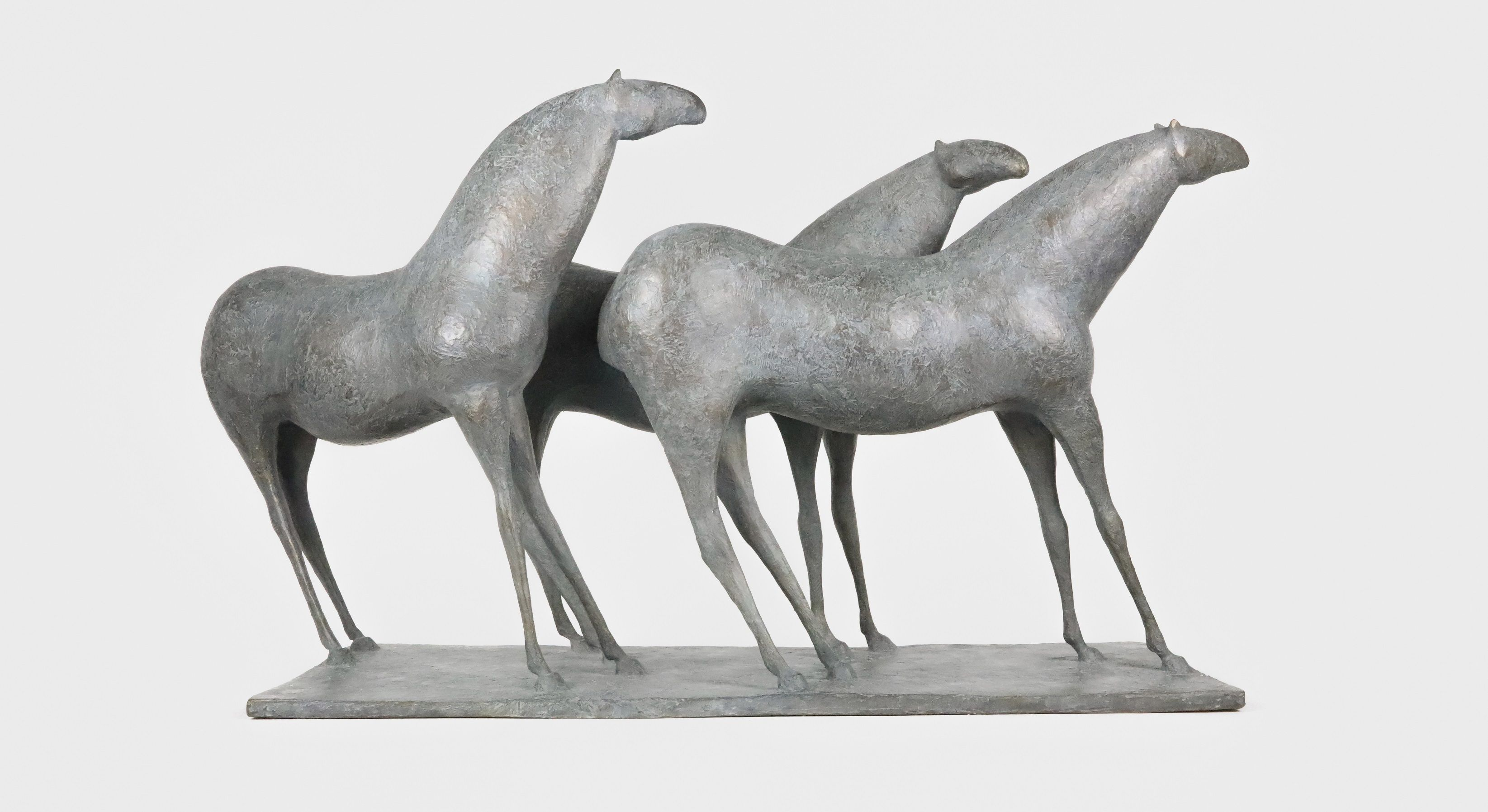 3 Chevaux, Pierre Yermia,Sculpture contemporaine