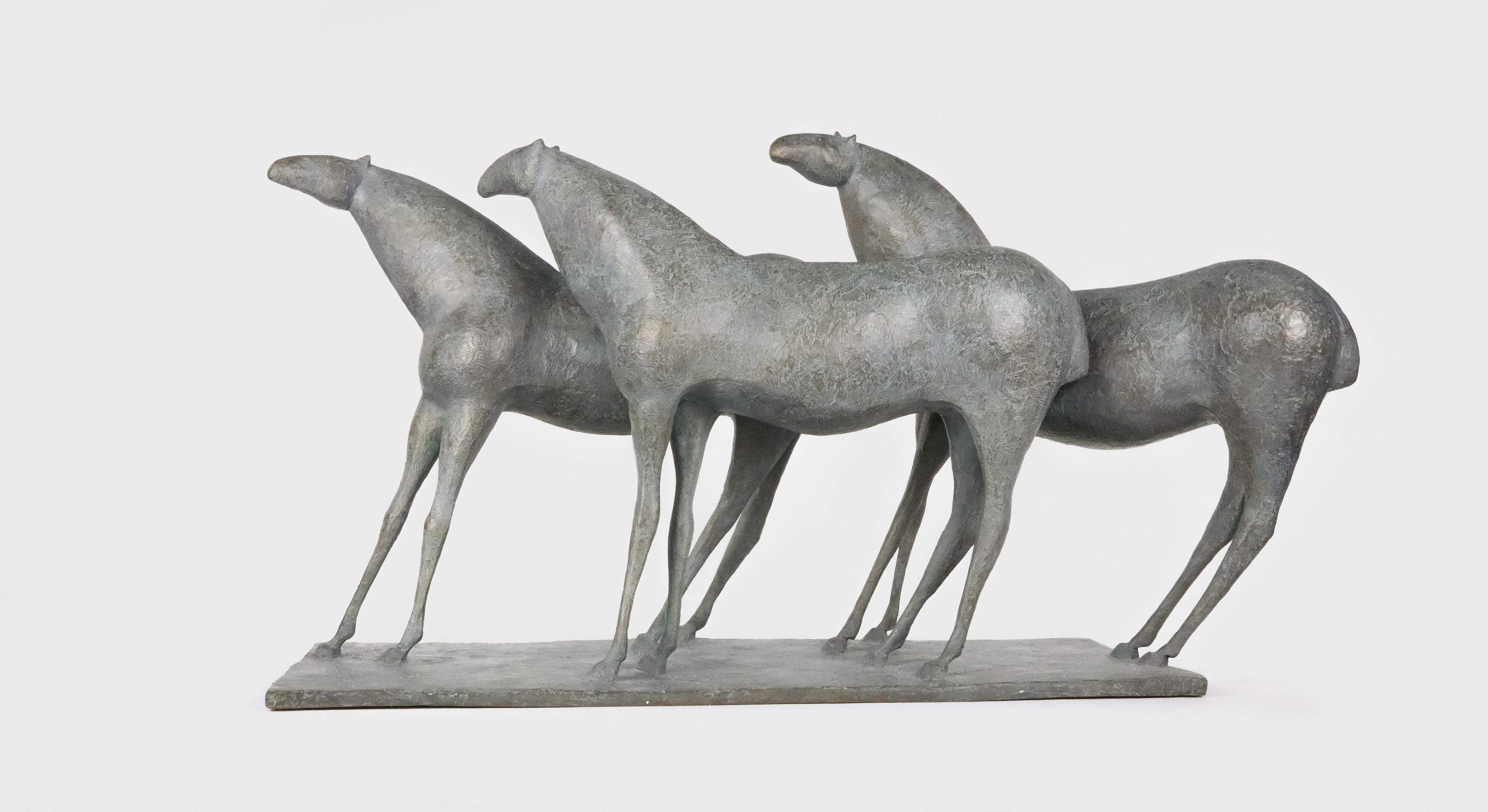 3 Chevaux, Pierre Yermia,Sculpture contemporaine, detail 3
