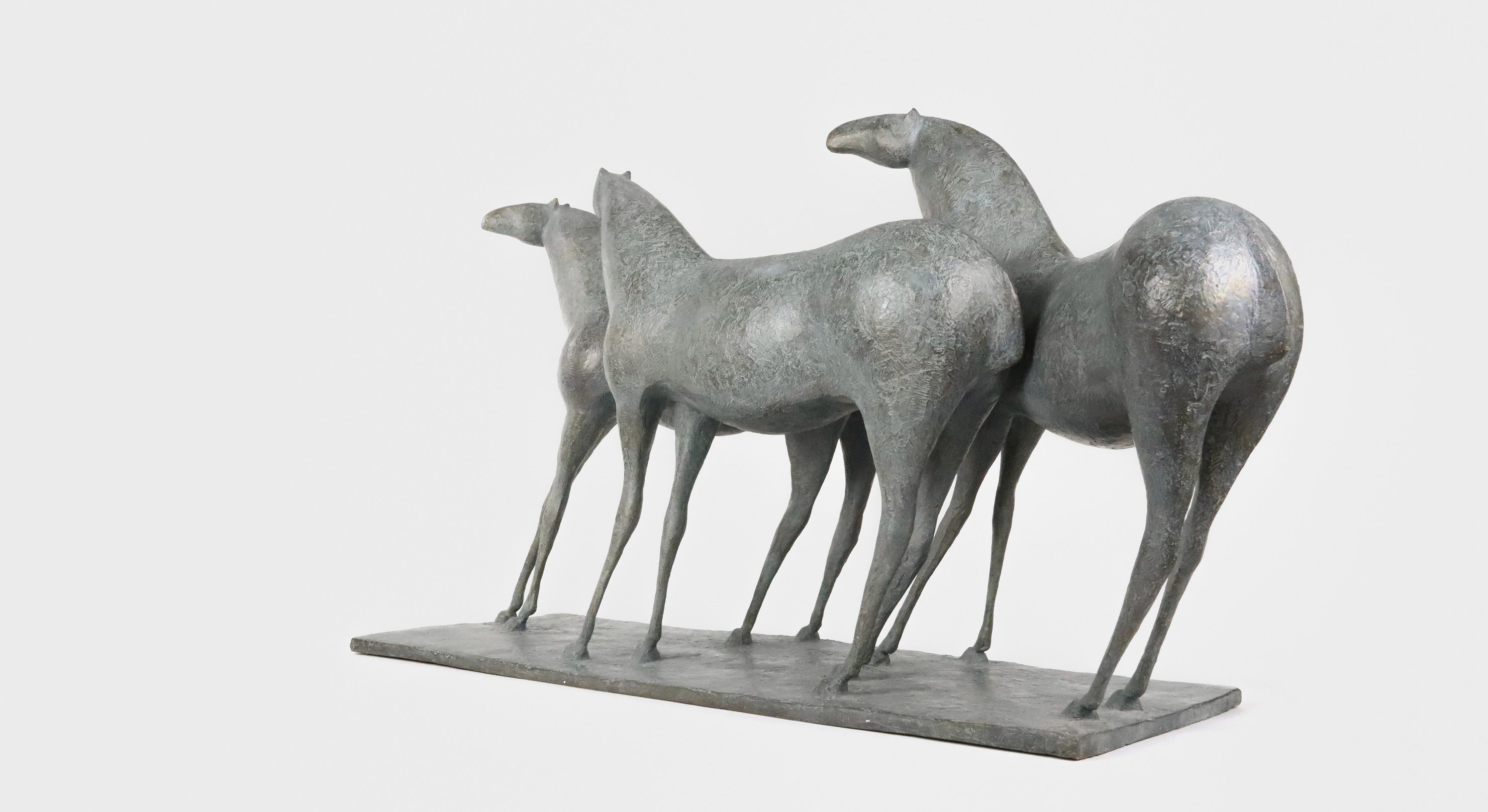 3 Chevaux, Pierre Yermia,Sculpture contemporaine, detail 4