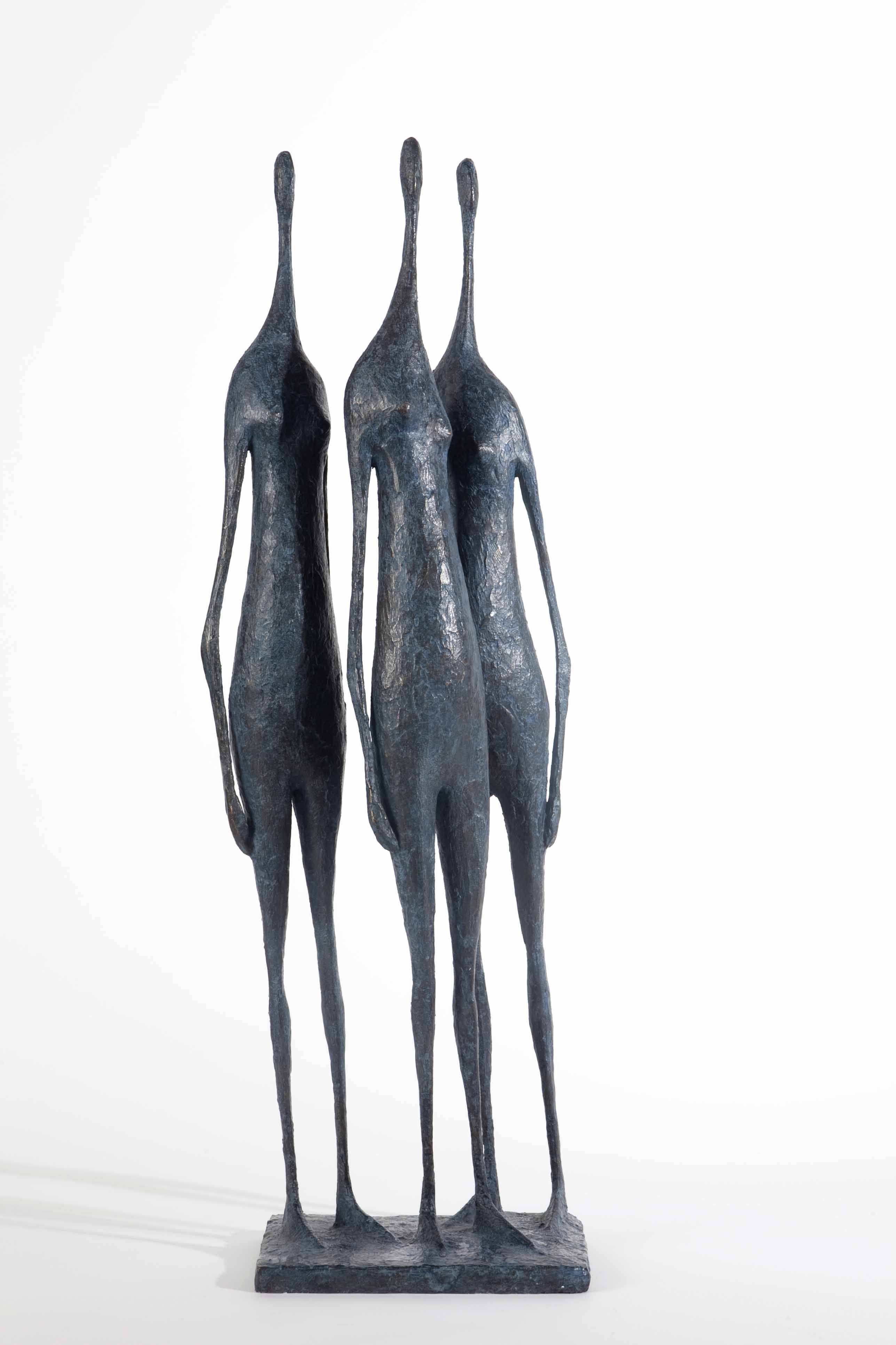 3 Figures debout V, Pierre Yermia,Sculpture contemporaine