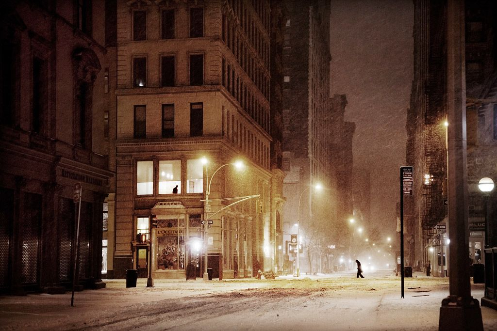 5th avenue, snow version,Christophe Jacrot,Photography