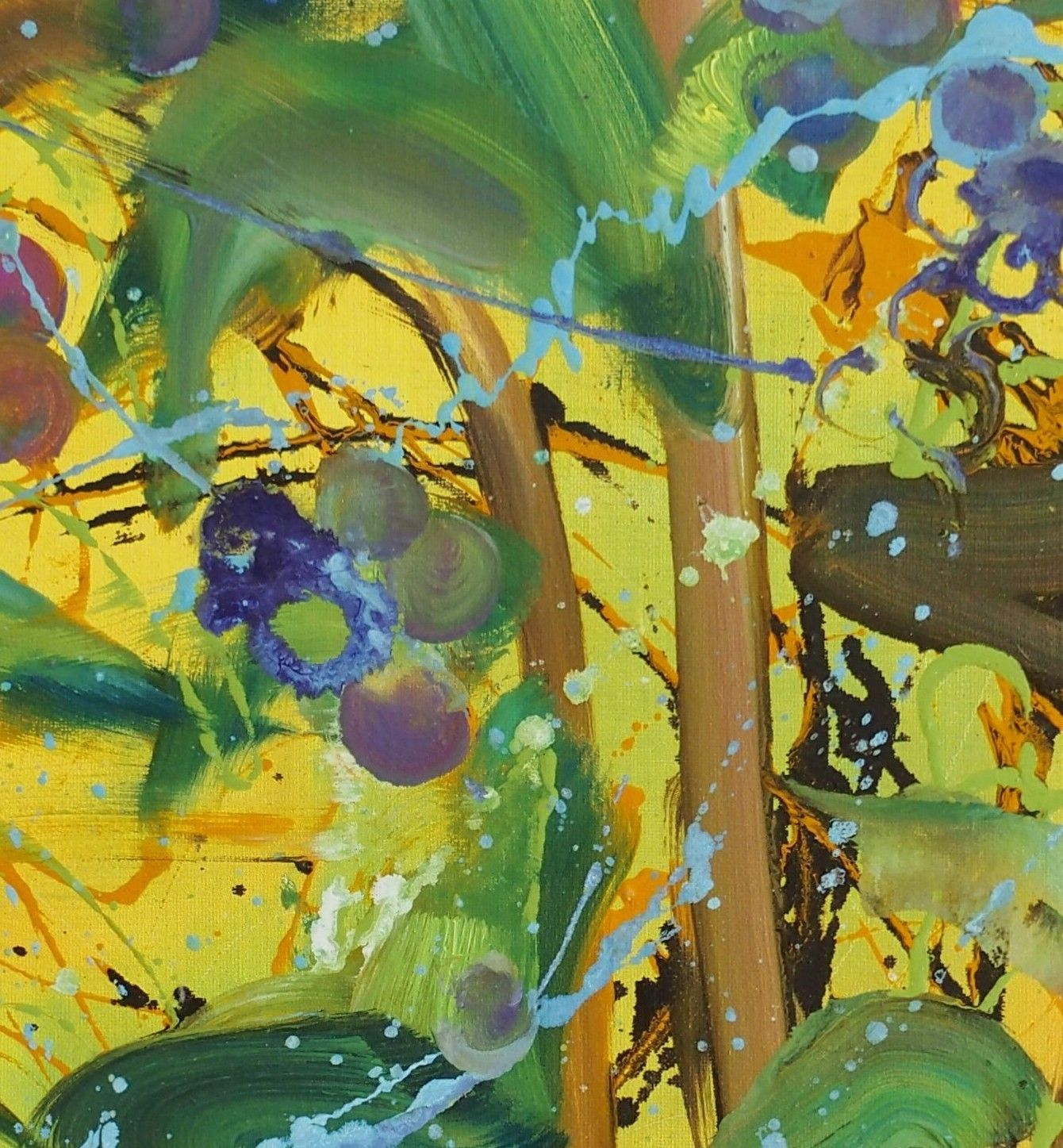 Blueberries - Christophe Dupety - Contemporary painting - detail 1