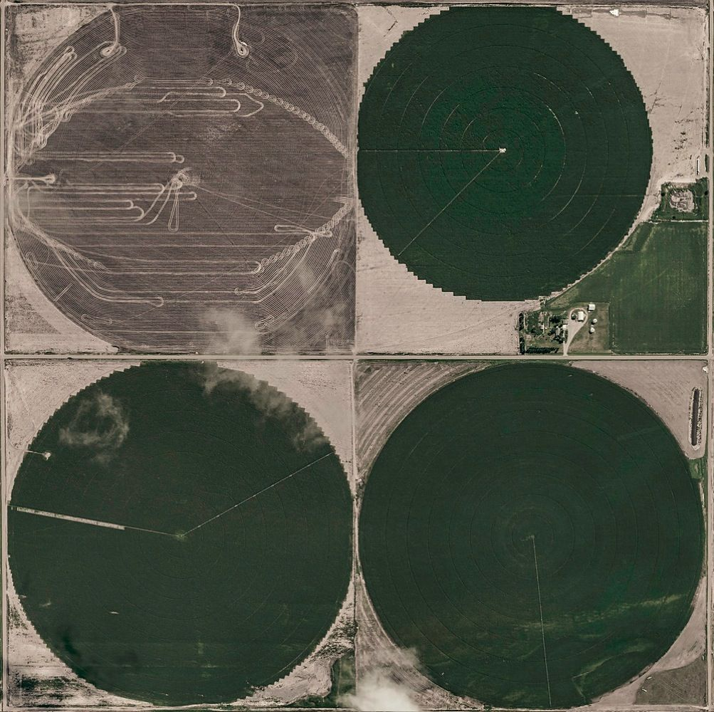 Aerial Views, Circle Irrigation 02,Bernhard Lang,Photographie contemporaine