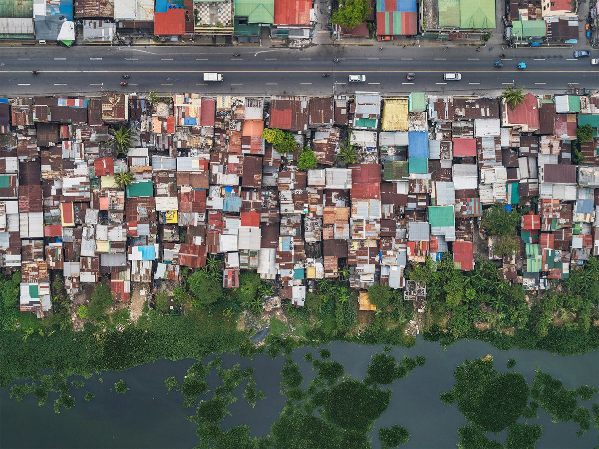 Aerial Views, Manila 03 ,Bernhard Lang,Photographie