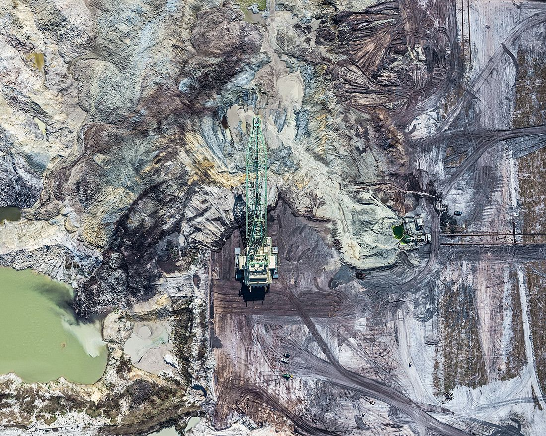 Aerial Views, Phosphate Mining 02