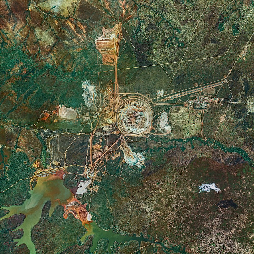 Photography - Bernhard Lang - Aerial Views, African Mines 007
