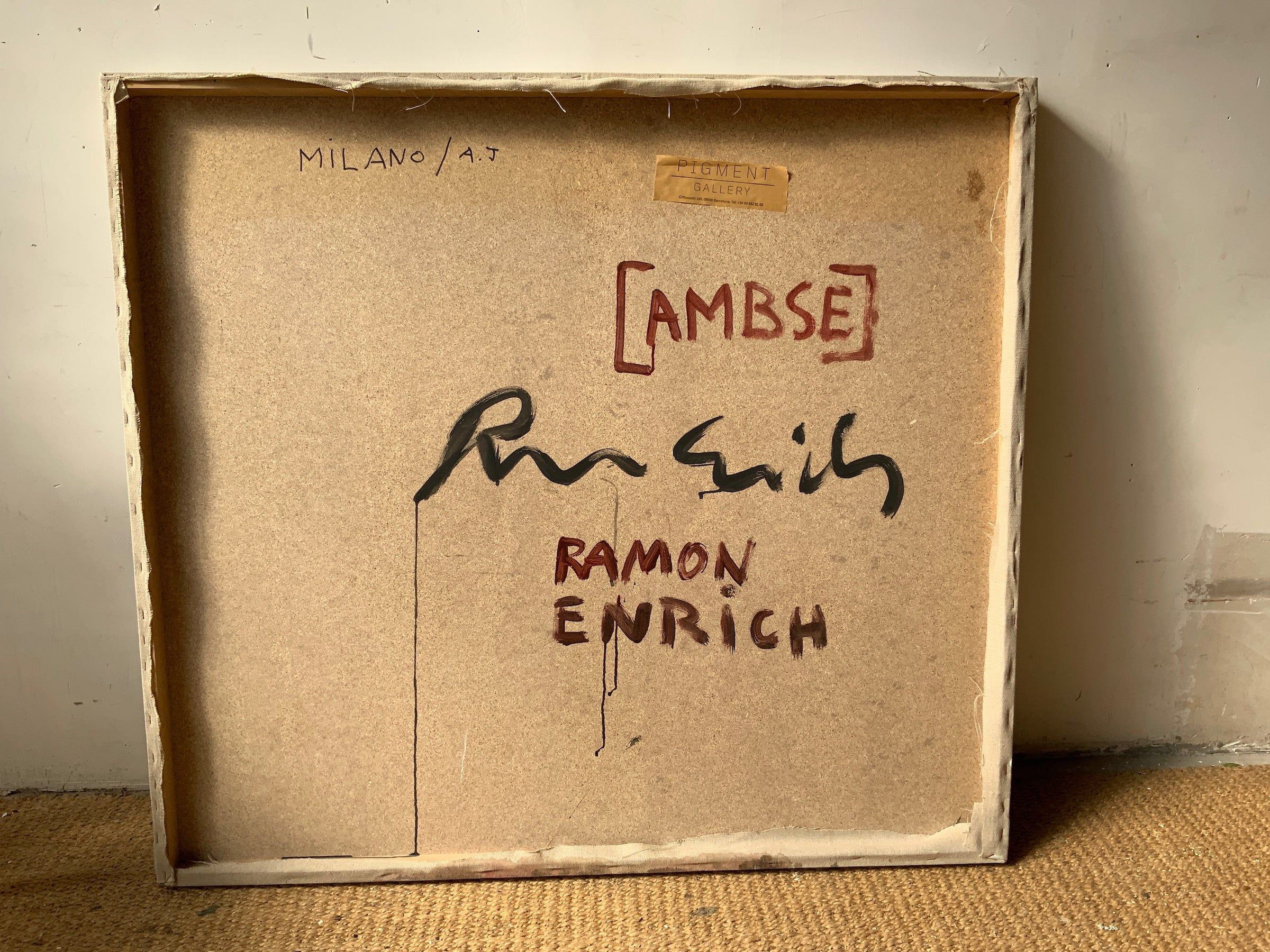 AMBSE,Ramon Enrich,Contemporary painting, detail 2