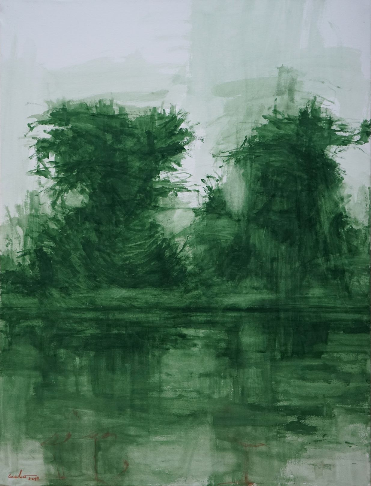 Arbres verts,Calo  Carratalá,Peinture contemporaine