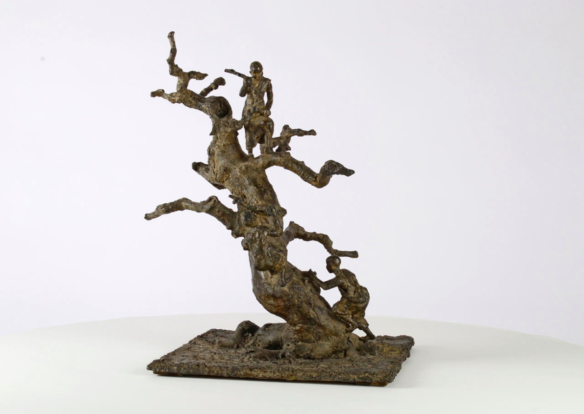 Tree with Children,Marine de Soos,Sculpture