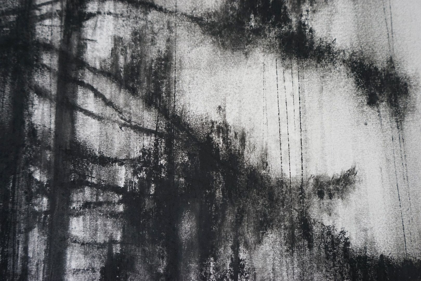 Contemporary painting - Guy Oberson - Arbre fragment 3 - detail 4