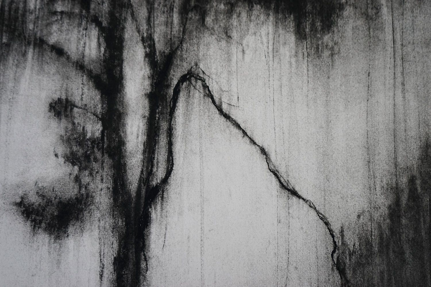 Arbre fragment 1,Guy Oberson,Contemporary painting, detail 4