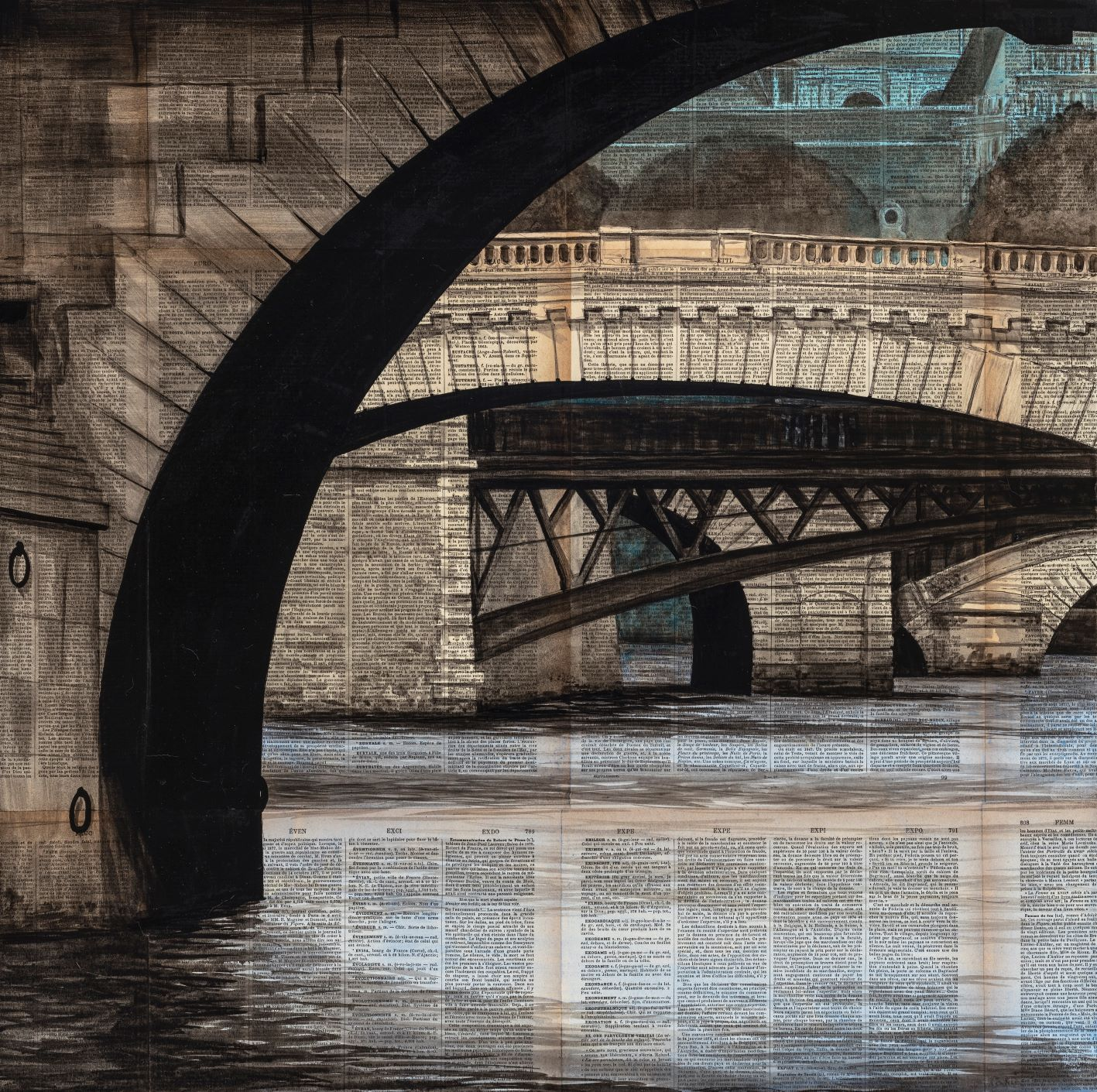 Arches,Guillaume Chansarel,Peinture