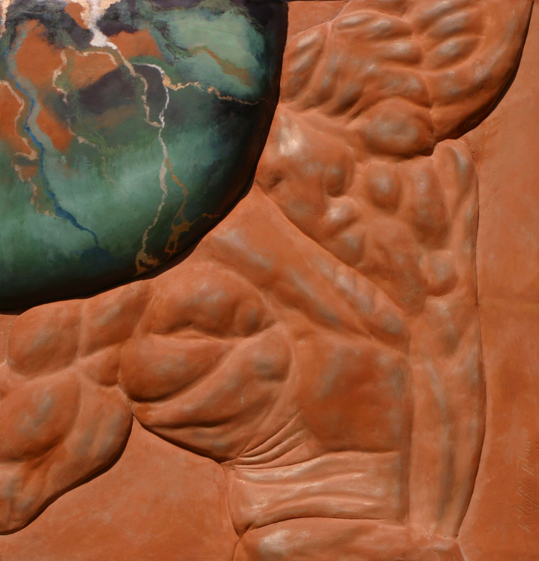 Atlas Relief,Walter Peter Brenner,Sculpture