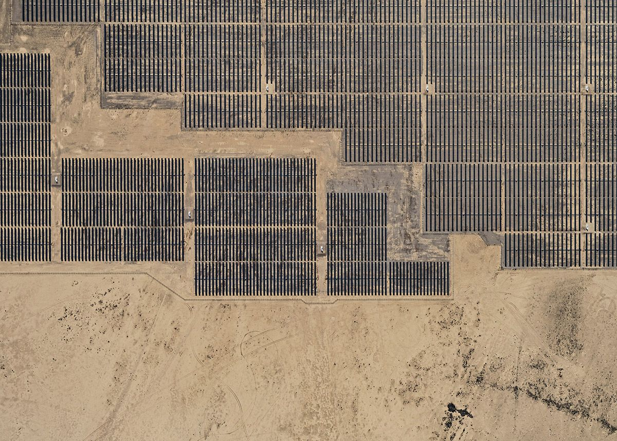 Aerial Views, Solar Plants 003,Bernhard Lang,Photographie contemporaine