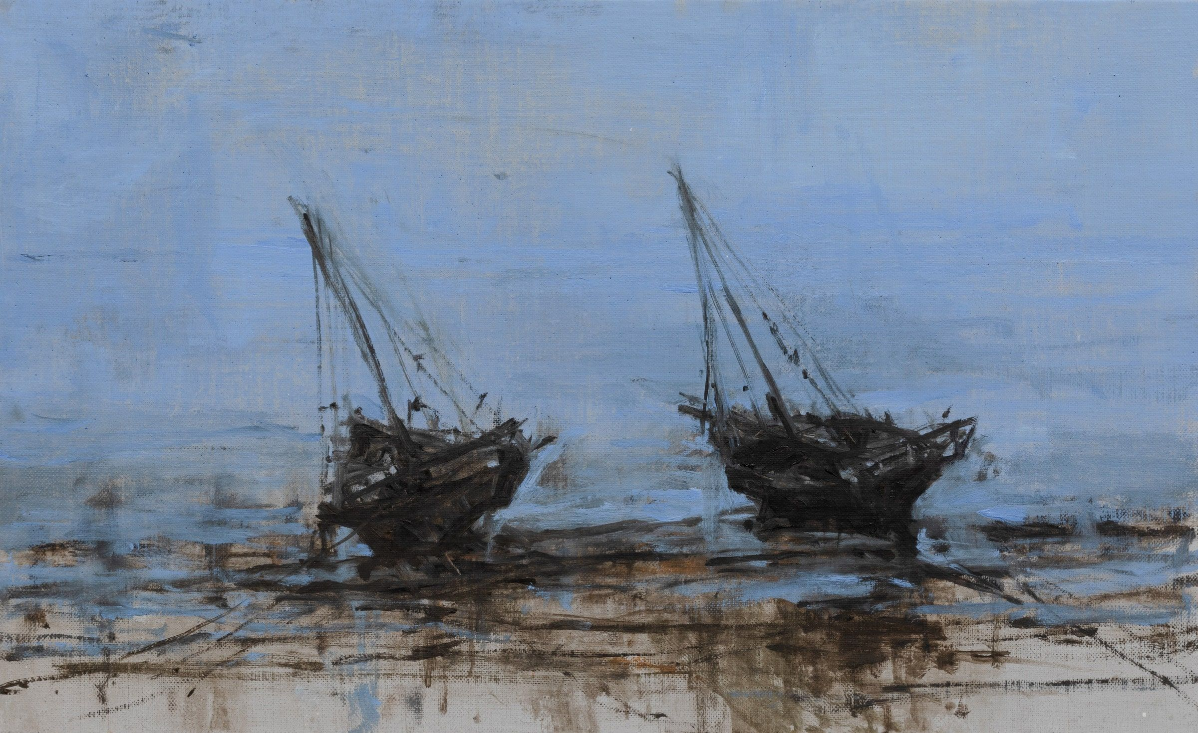 Boat in Dar es Salam n°2,Calo  Carratalá,Contemporary painting