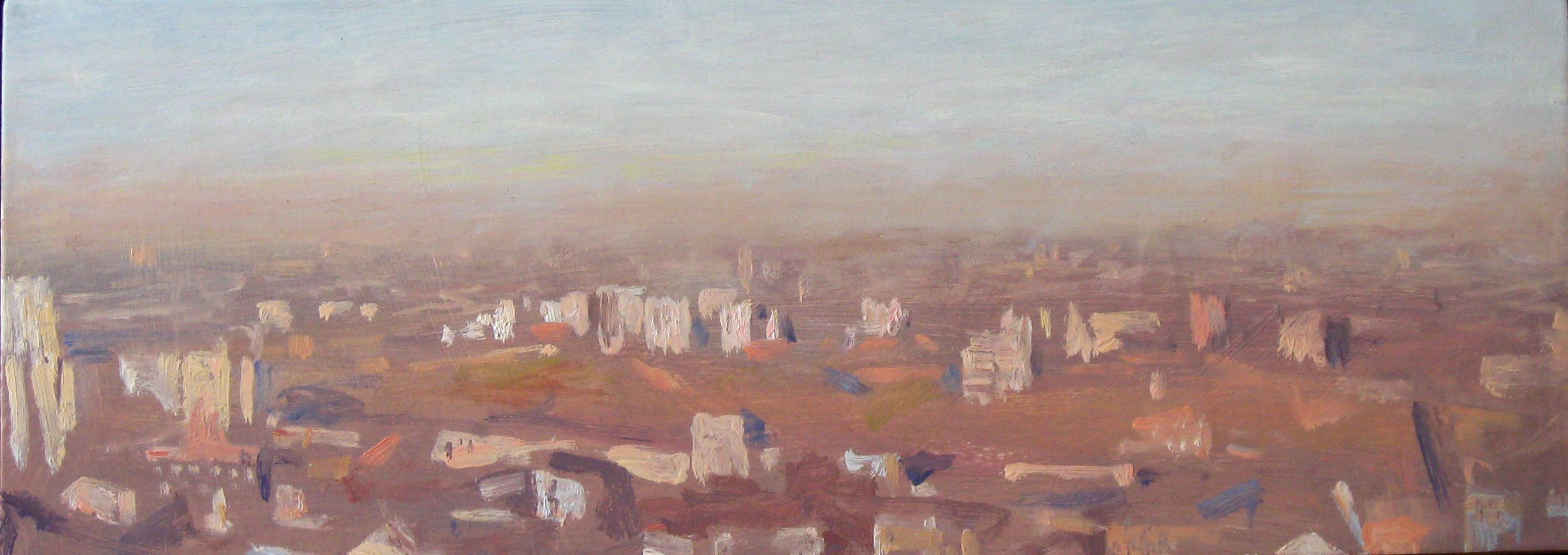 Polluted Mist,Valérie de Sarrieu,Contemporary painting