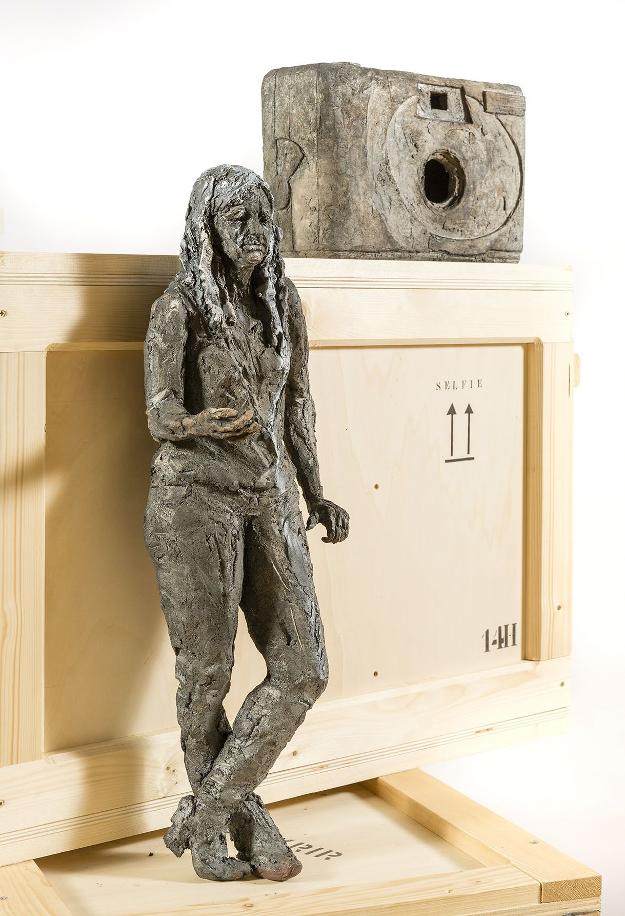 Selfie,Cécile Raynal,Sculpture contemporaine