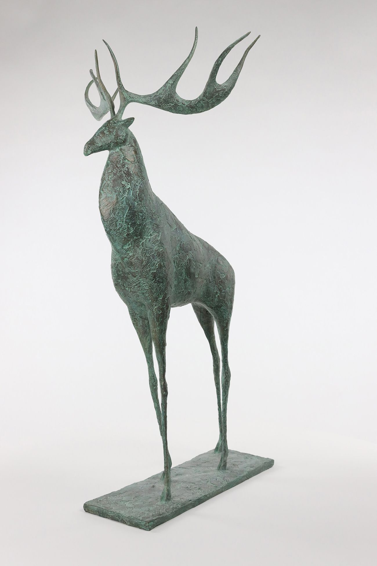 Deer II,Pierre Yermia,Sculpture, detail 2