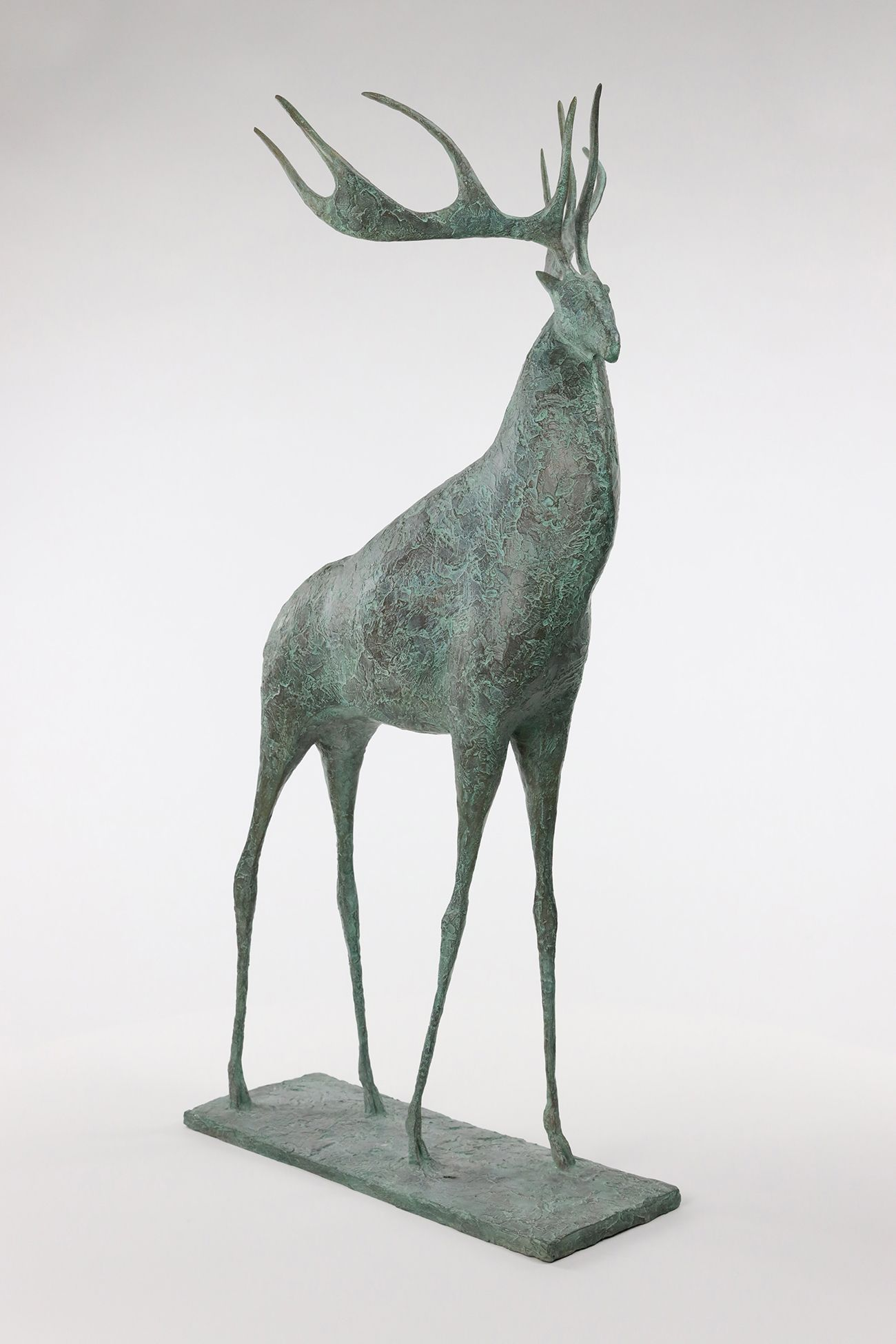 Deer II,Pierre Yermia,Sculpture, detail 1