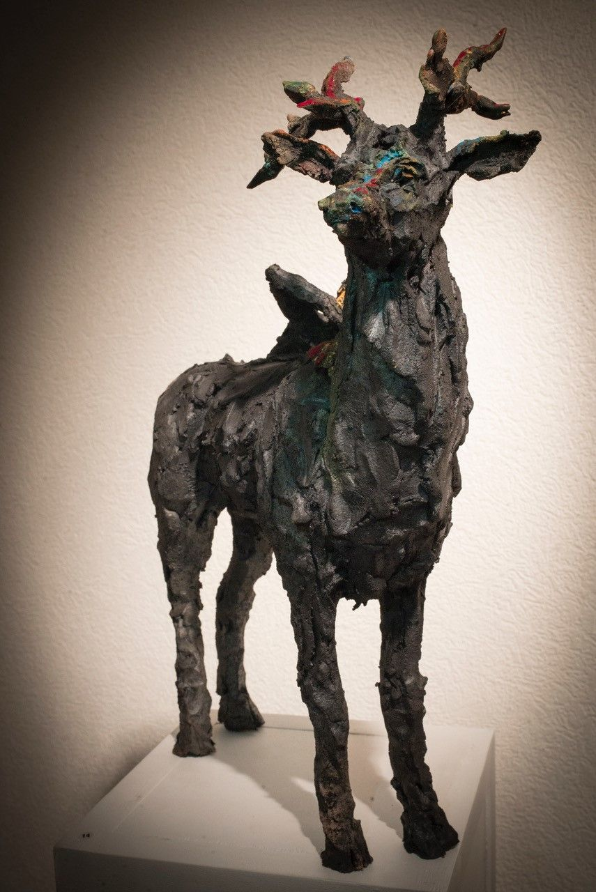 Cerf,Cécile Raynal,Sculpture, detail 2