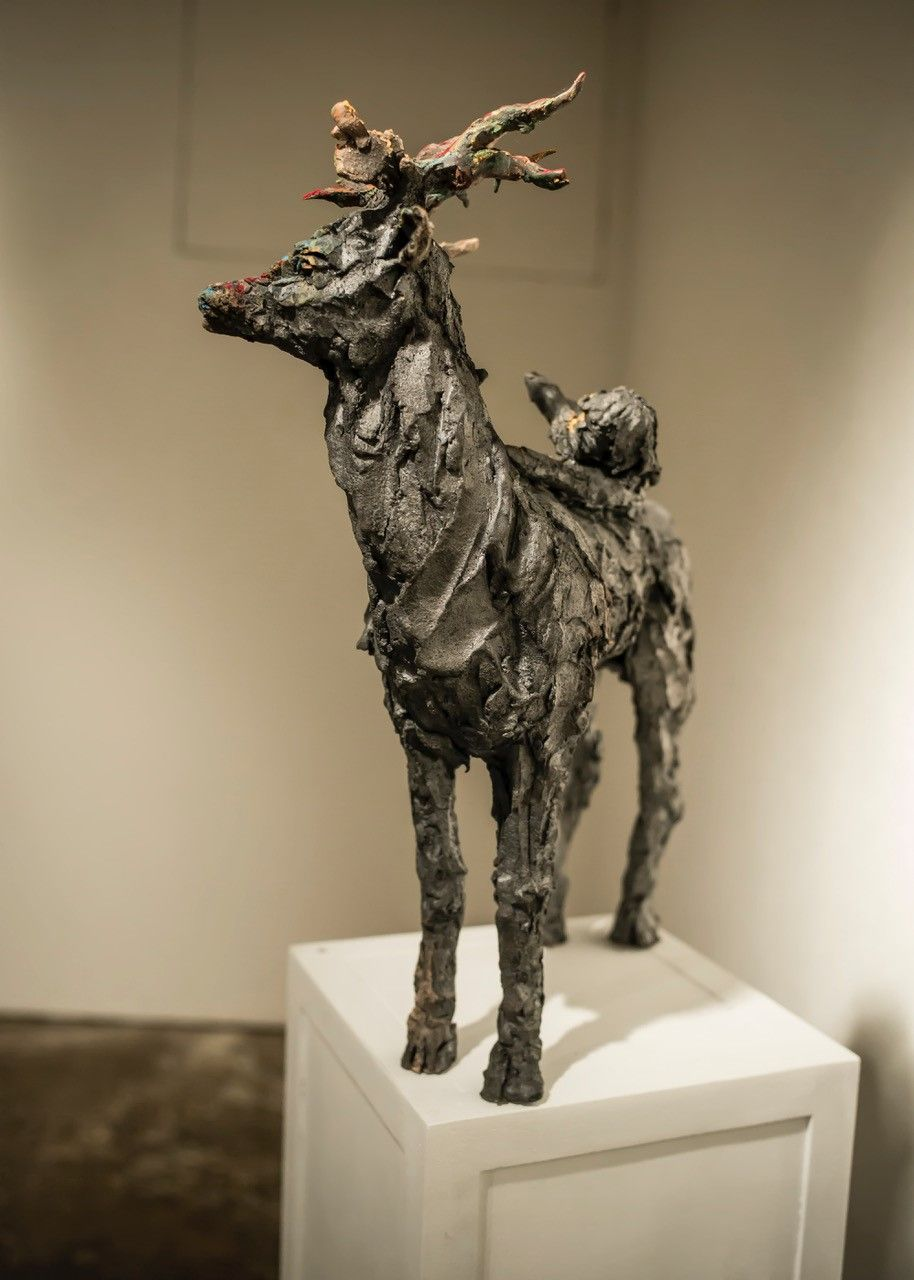Cerf,Cécile Raynal,Sculpture