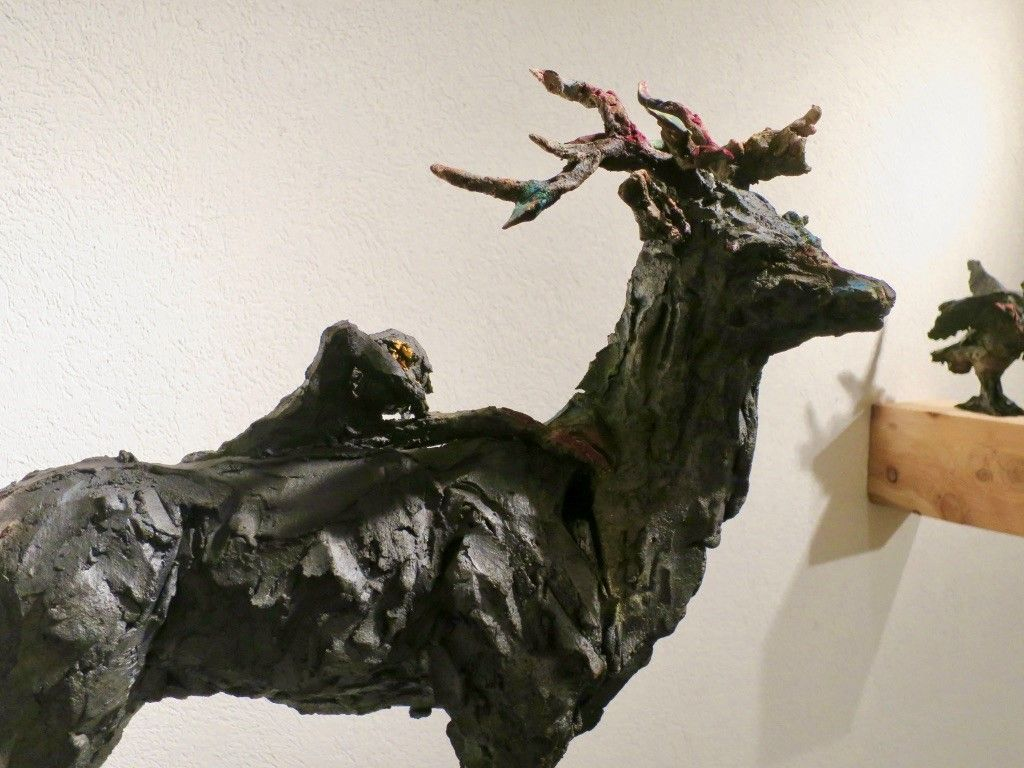Deer,Cécile Raynal,Sculpture, detail 4