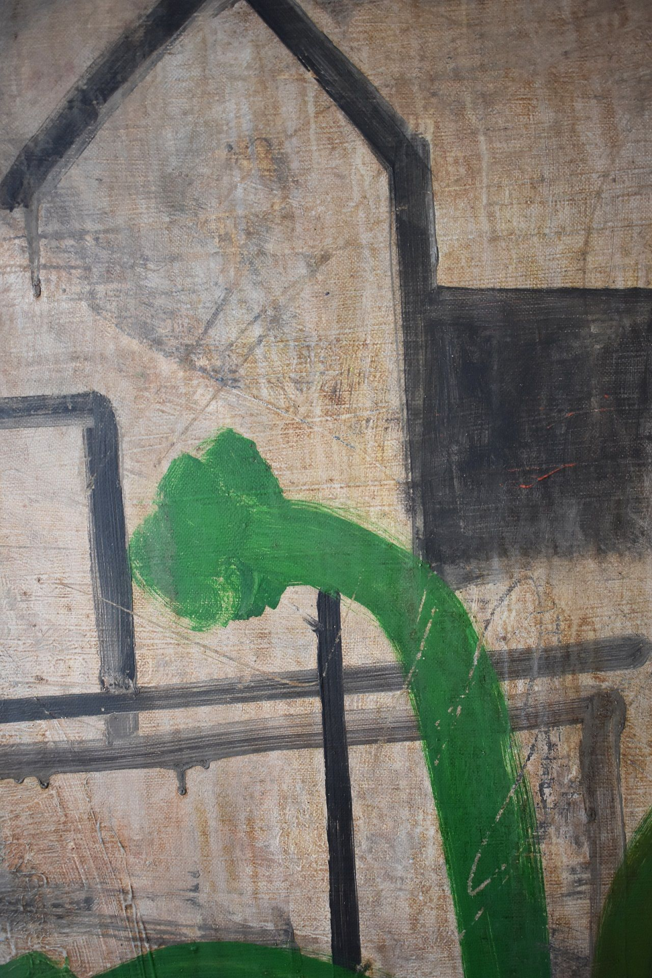 CONG I,Ramon Enrich,Painting, detail 2