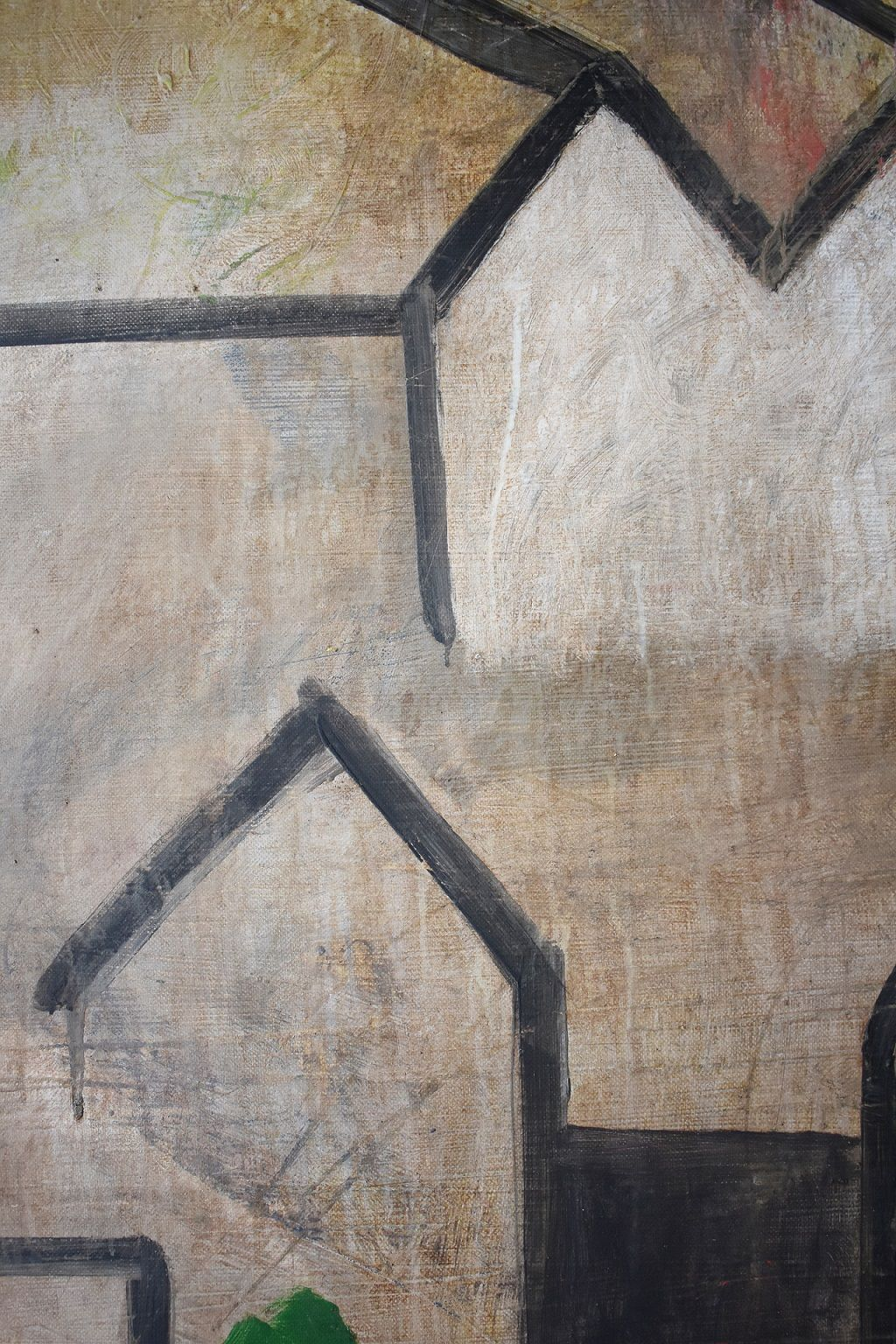 CONG I,Ramon Enrich,Painting, detail 3