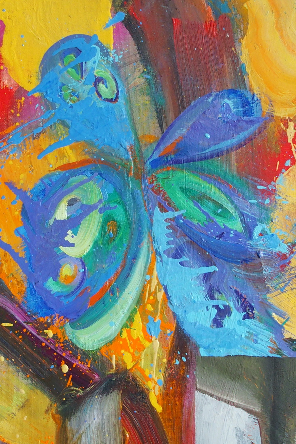 Contemporary painting - Christophe Dupety - Behind the Scenes - detail 1