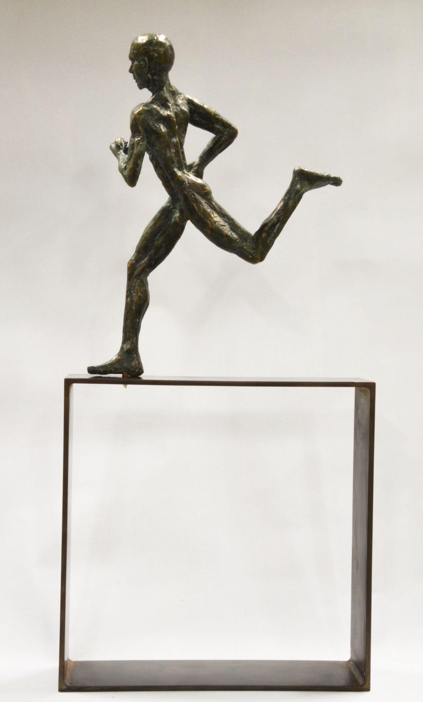 Coureur marathon,Yann Guillon,Sculpture, detail 1