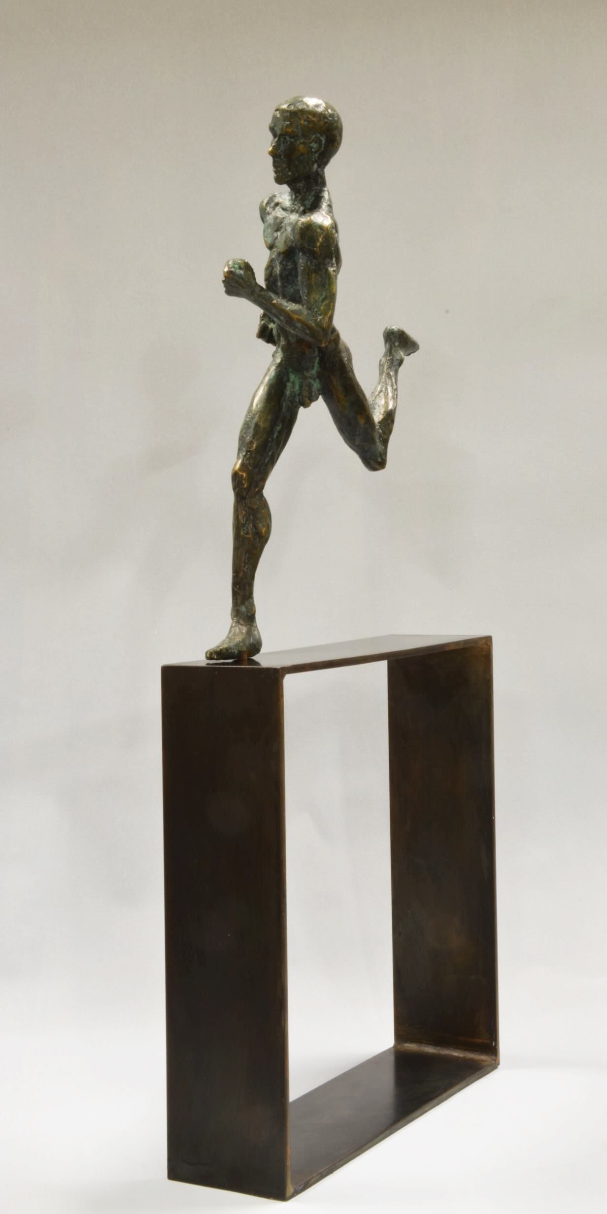 Coureur marathon,Yann Guillon,Sculpture, detail 2