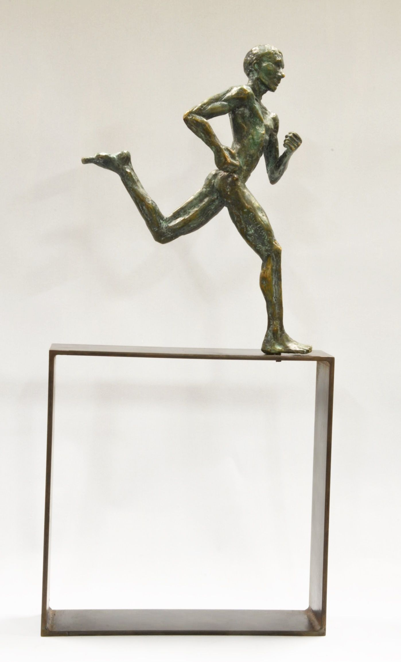 Coureur marathon,Yann Guillon,Sculpture, detail 4