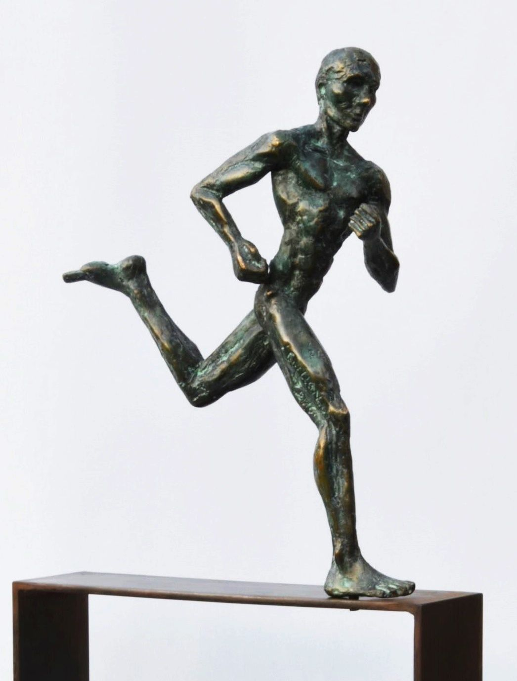 Coureur marathon,Yann Guillon,Sculpture
