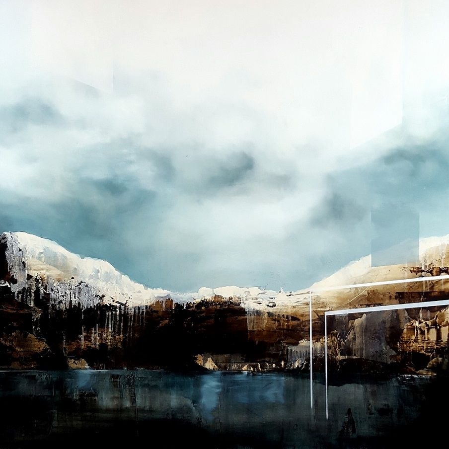 Crystal Skies III,Joachim van der Vlugt,Contemporary painting