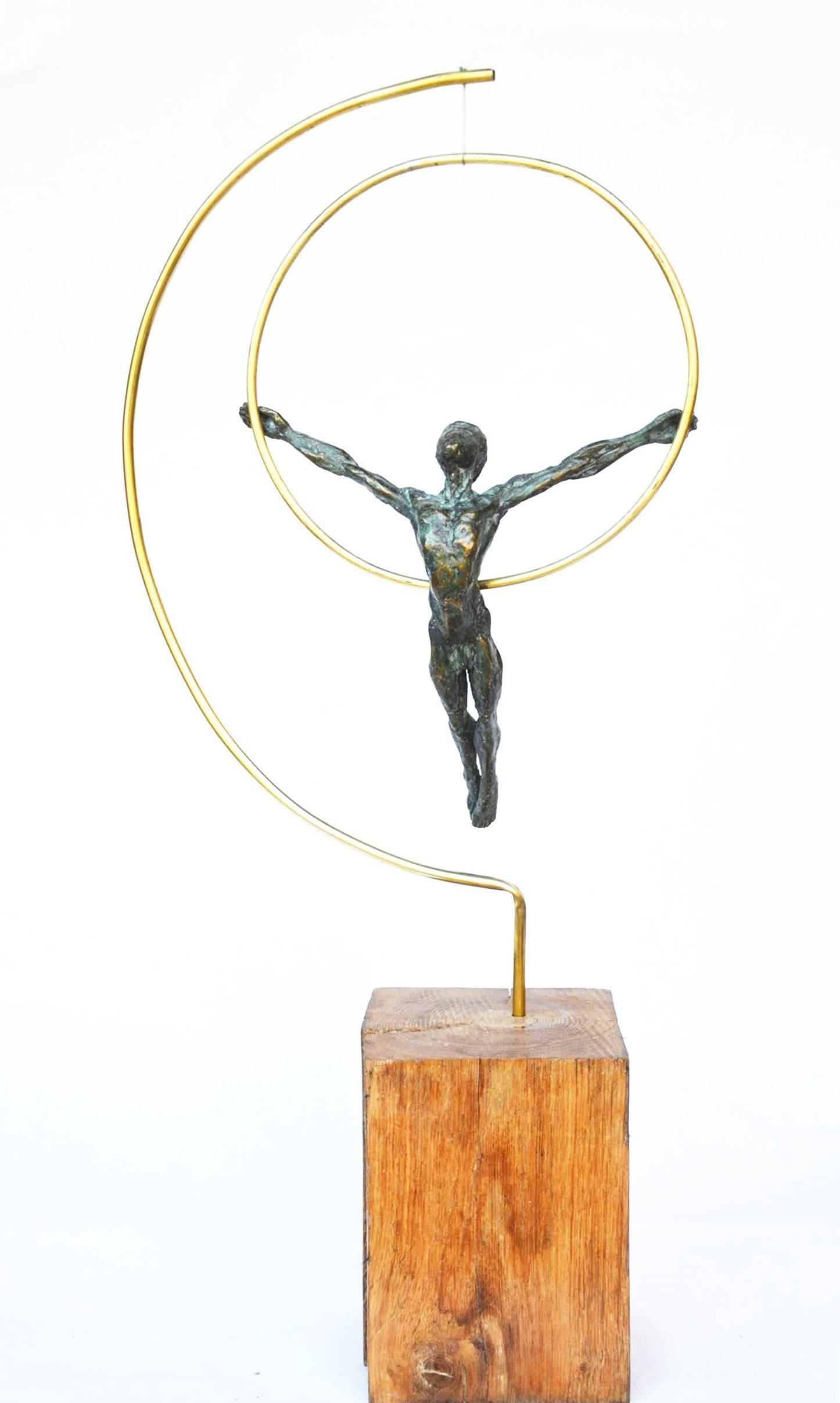 Dancer with a hoop,Yann Guillon,Sculpture