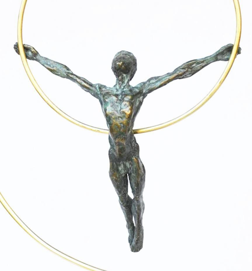 Dancer with a hoop,Yann Guillon,Sculpture, detail 2