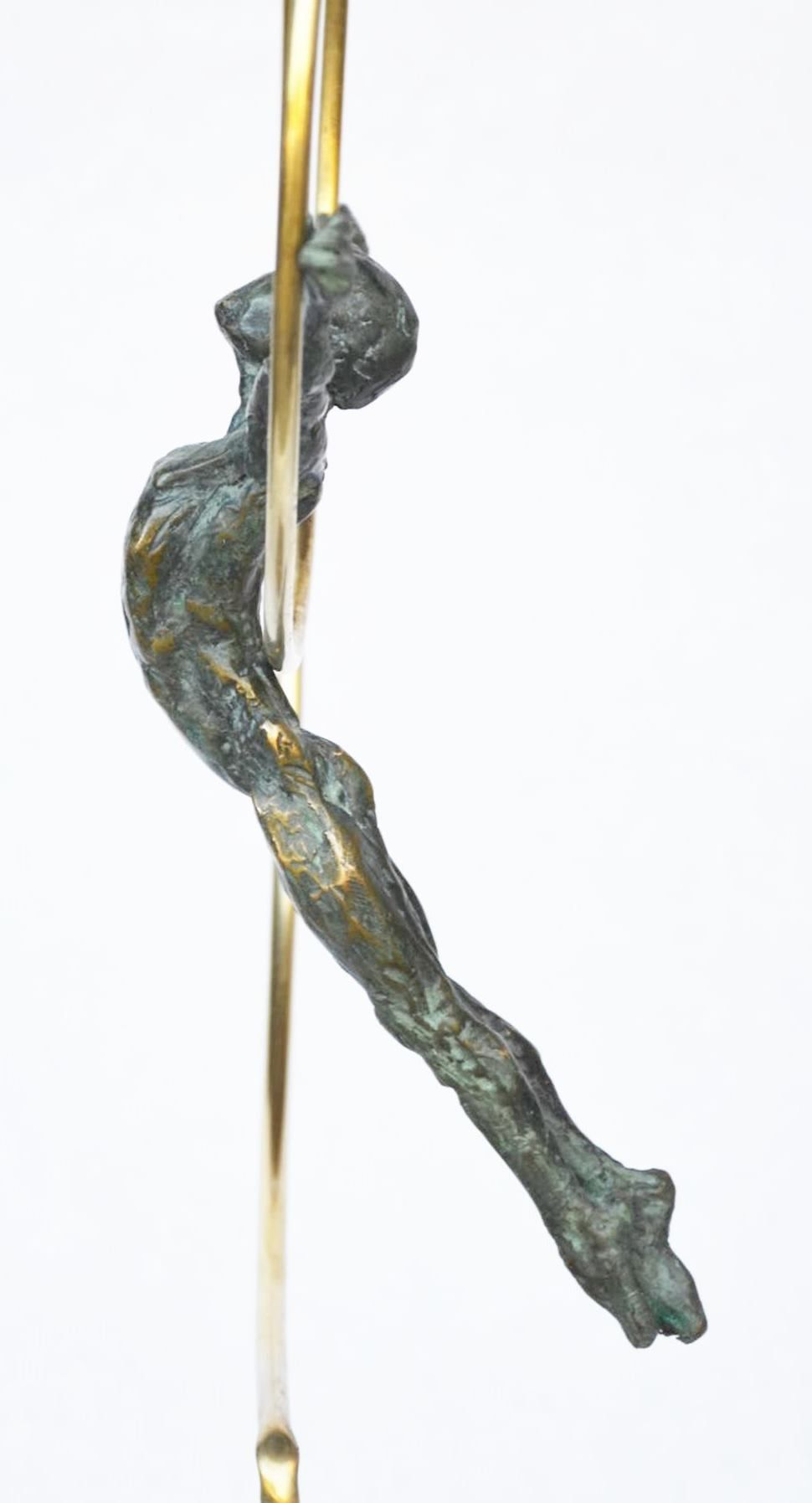 Dancer with a hoop,Yann Guillon,Sculpture, detail 3