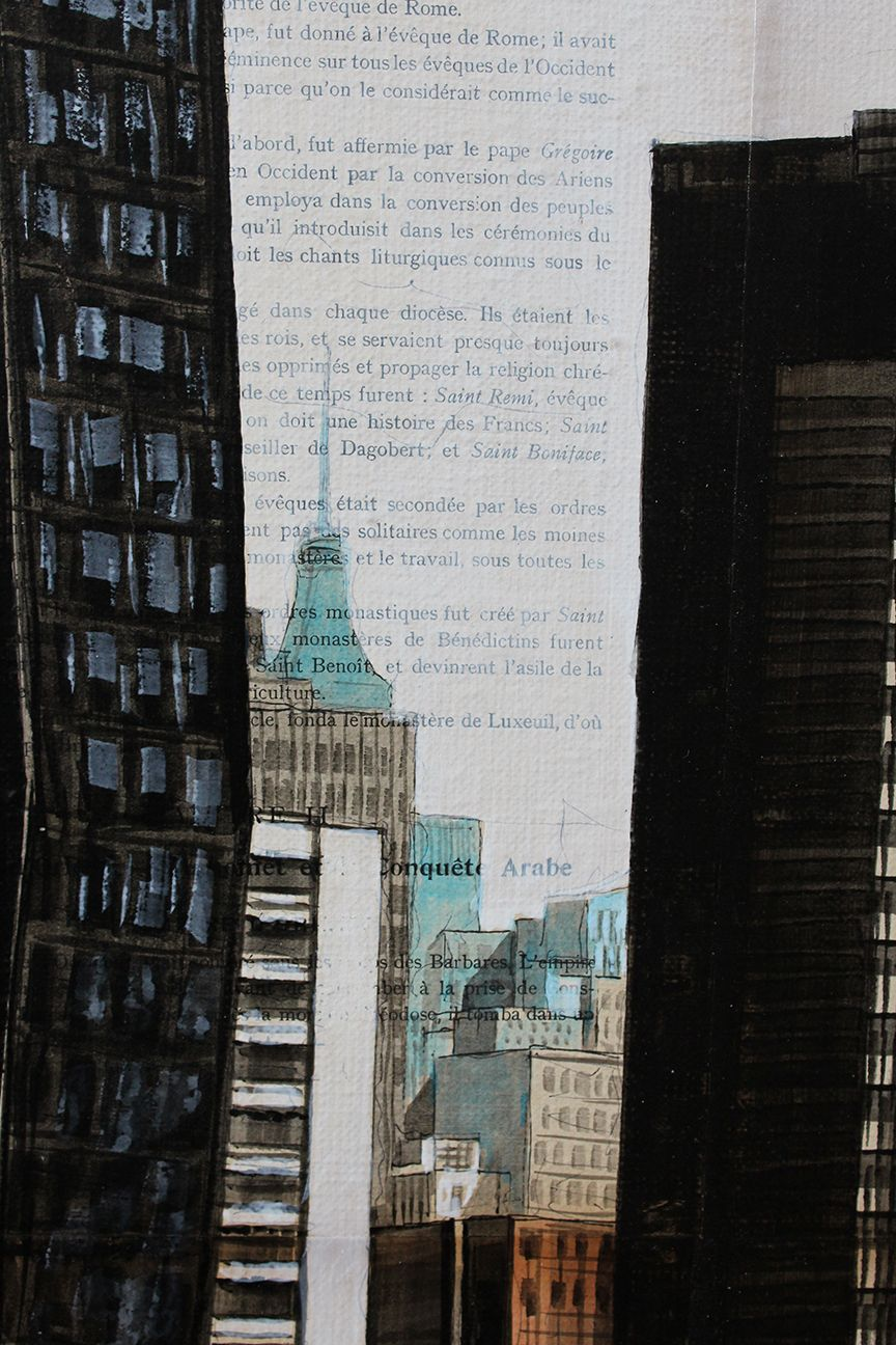 Standing,Guillaume Chansarel,Contemporary painting, detail 3