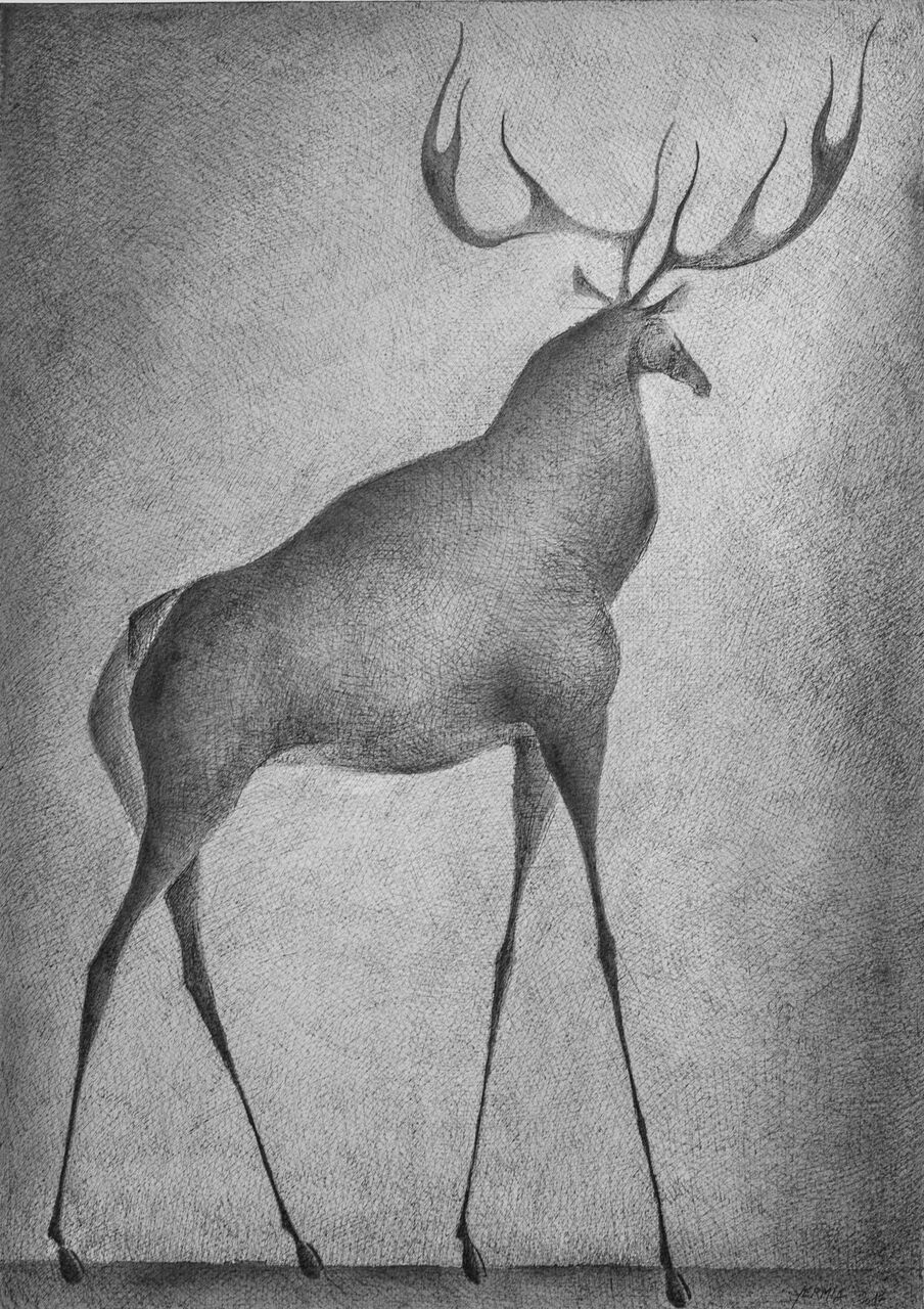 Deer III,Pierre Yermia,Drawing