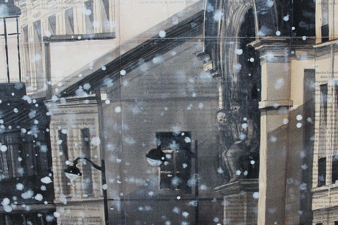 Dome,Guillaume Chansarel,Contemporary painting, detail 2
