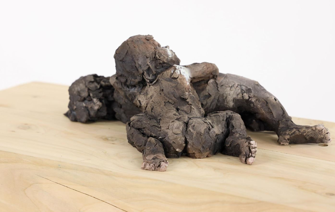 Two babies - Cécile Raynal - Sculpture - detail 2