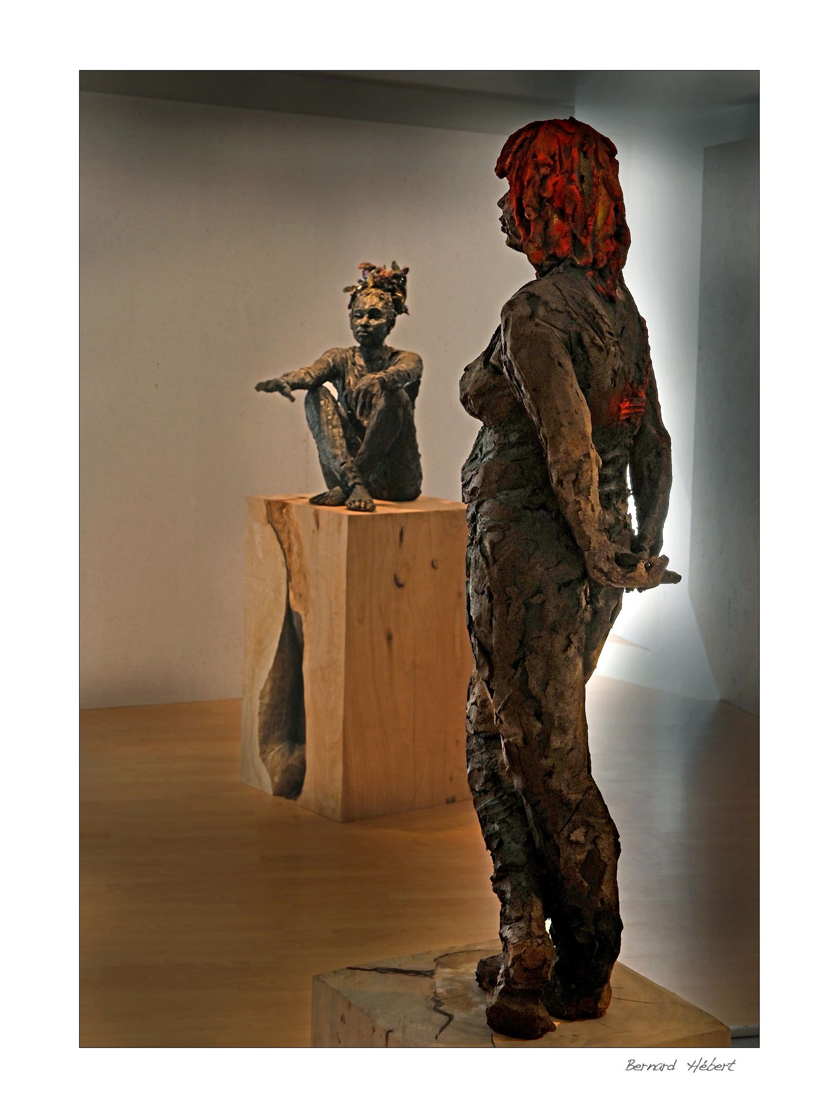 Scarlet (with Lindsay),Cécile Raynal,Sculpture, detail 2
