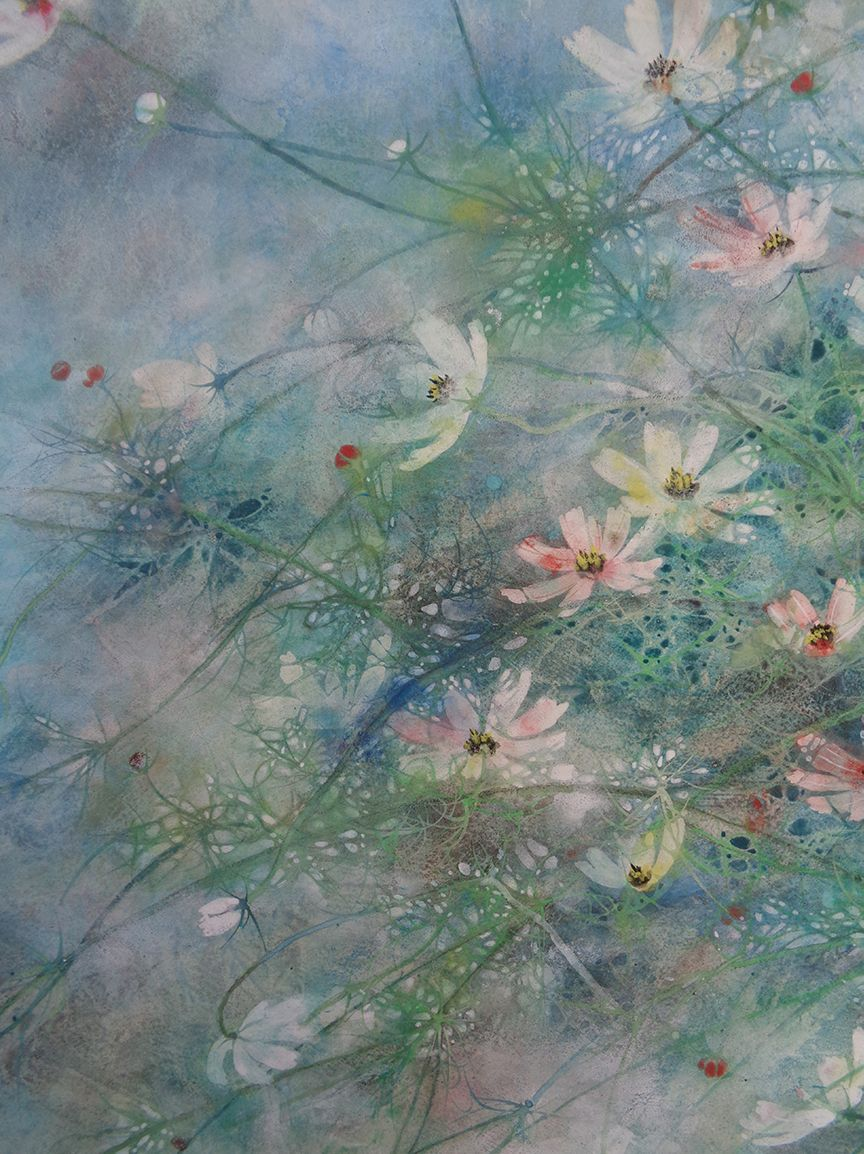 Hope, Cosmos series,Chen Yiching,Contemporary painting, detail 2