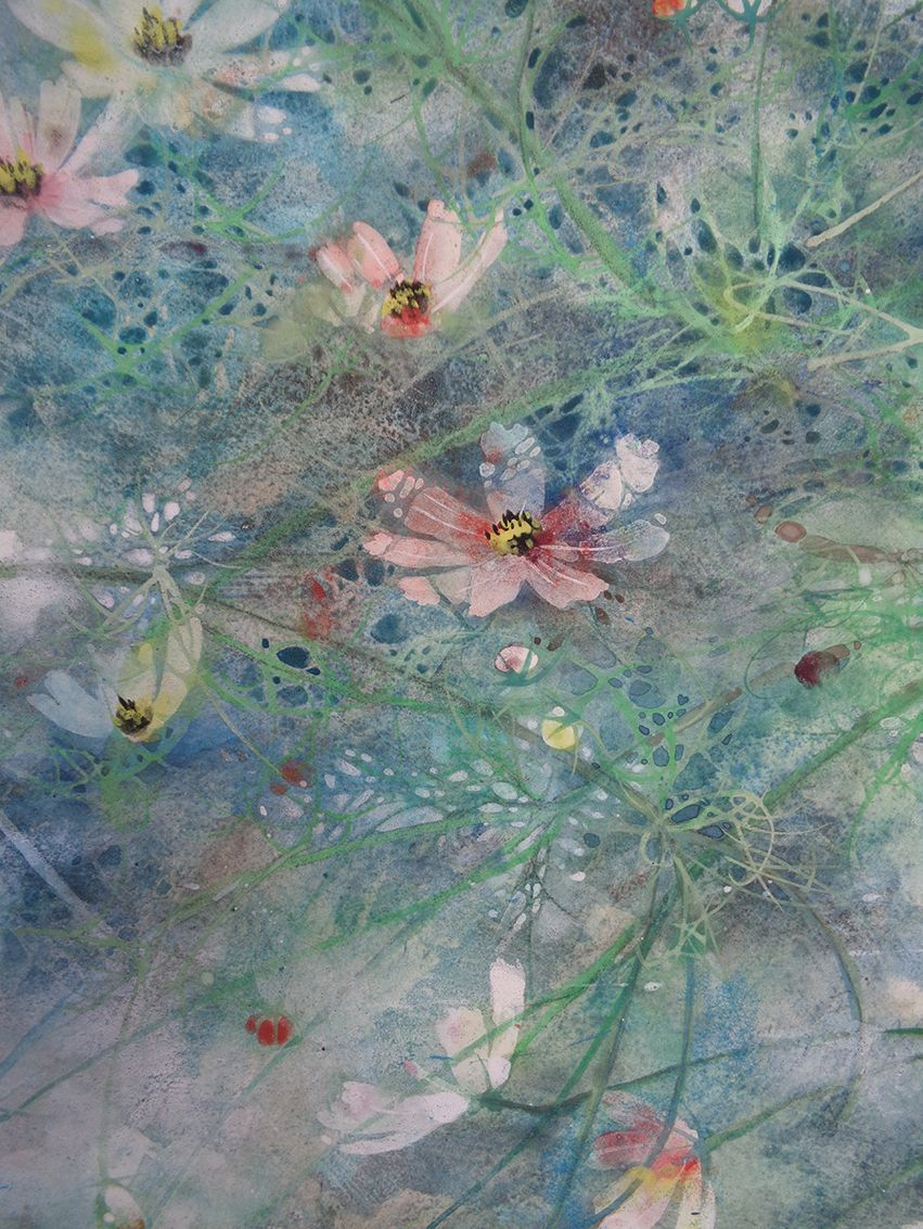 Hope, Cosmos series,Chen Yiching,Contemporary painting, detail 3