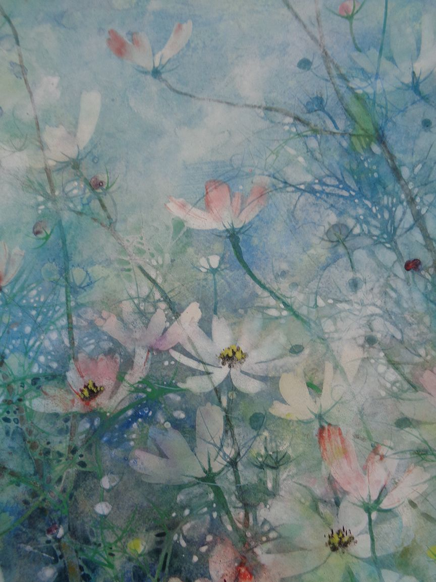 Hope, Cosmos series,Chen Yiching,Contemporary painting, detail 4
