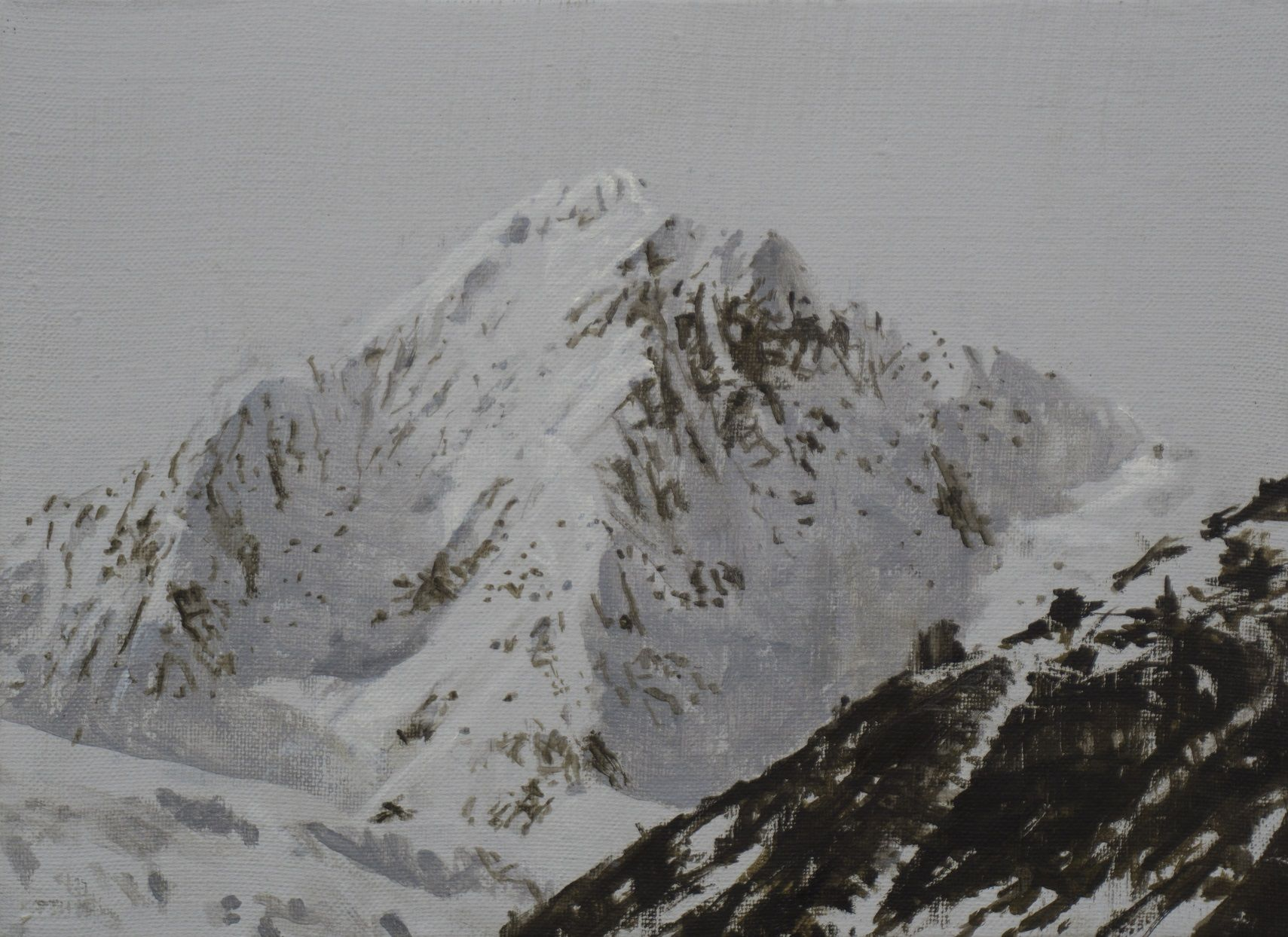 Benasque Study 1, Snow collection,Calo  Carratalá,Contemporary painting