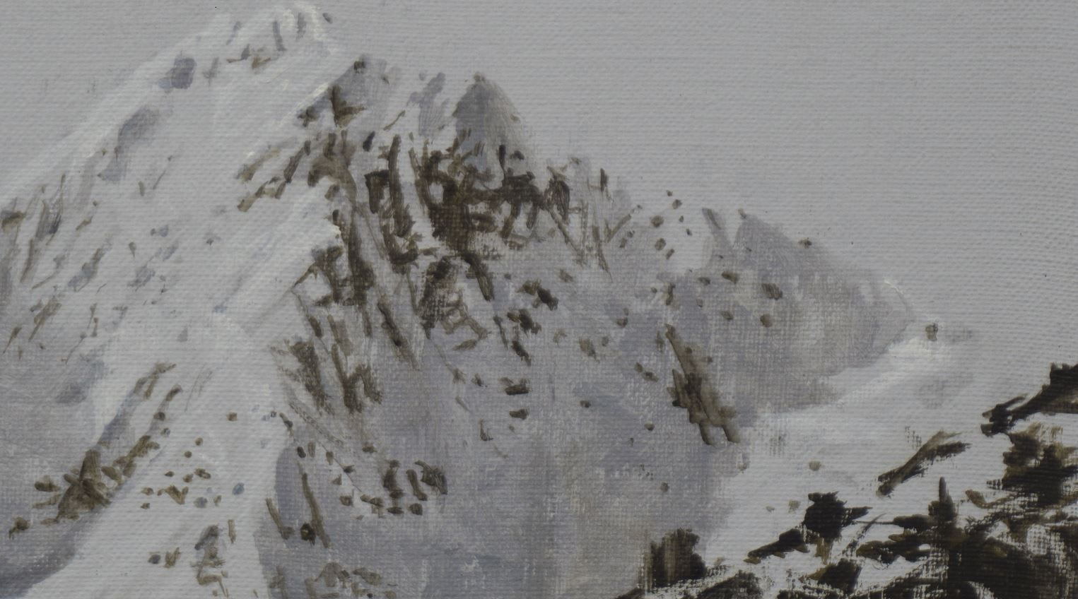 Benasque Study 1, Snow collection,Calo  Carratalá,Contemporary painting, detail 2