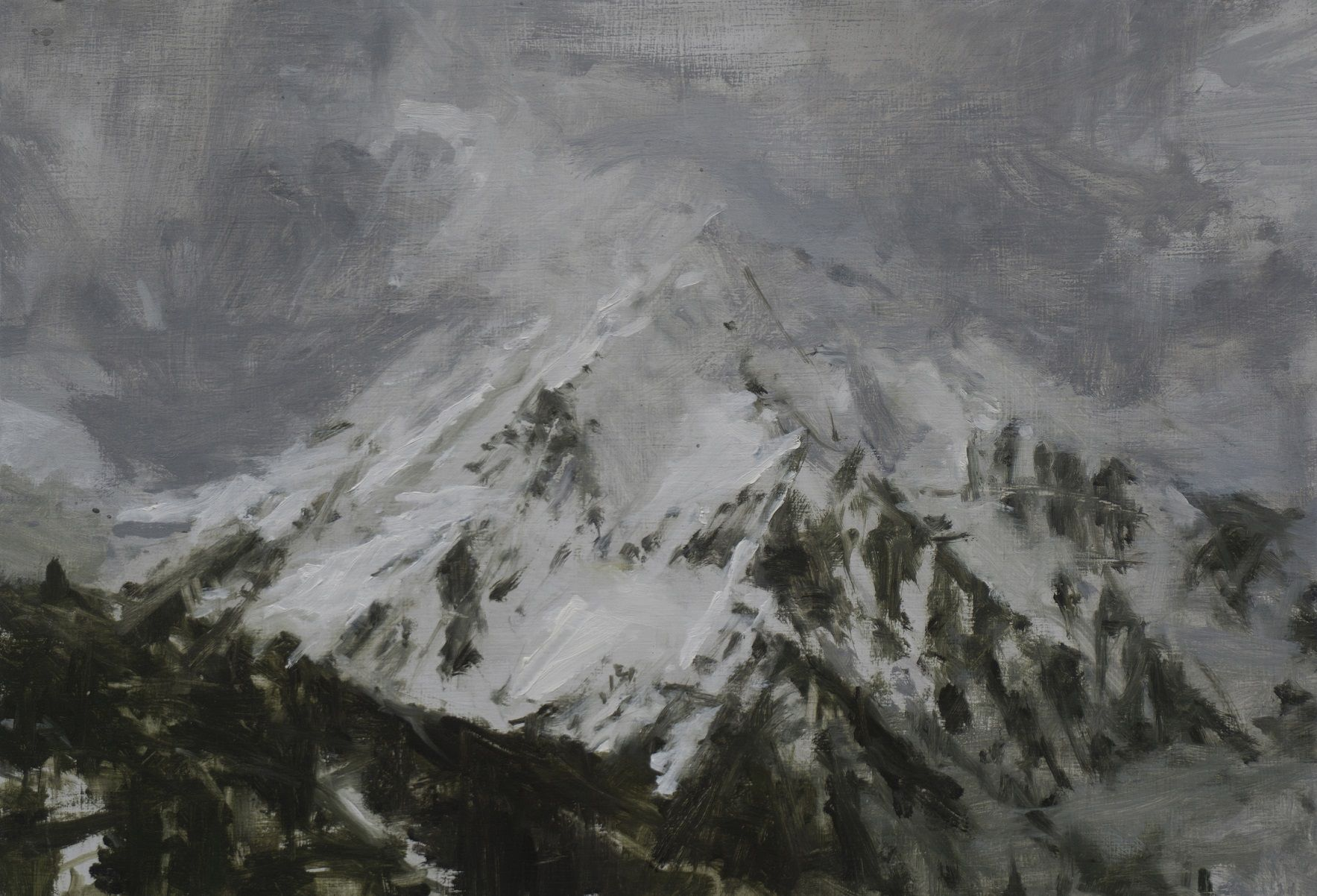 Benasque Study 3, Snow collection,Calo  Carratalá,Contemporary painting
