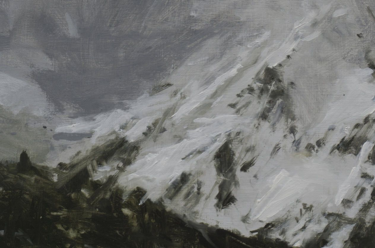 Benasque Study 3, Snow collection,Calo  Carratalá,Contemporary painting, detail 2